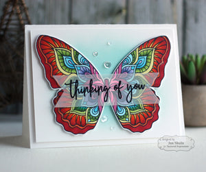 Taylored Expressions cling rubber stamps - Big Butterfly, Made in USA
