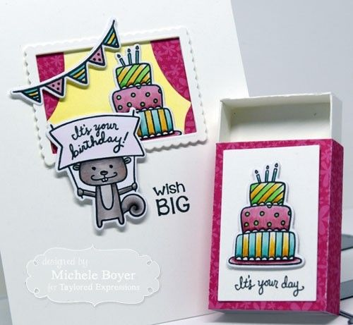 Taylored Expressions cling rubber stamps & thin metal dies - Matchy Matchy, Made in USA