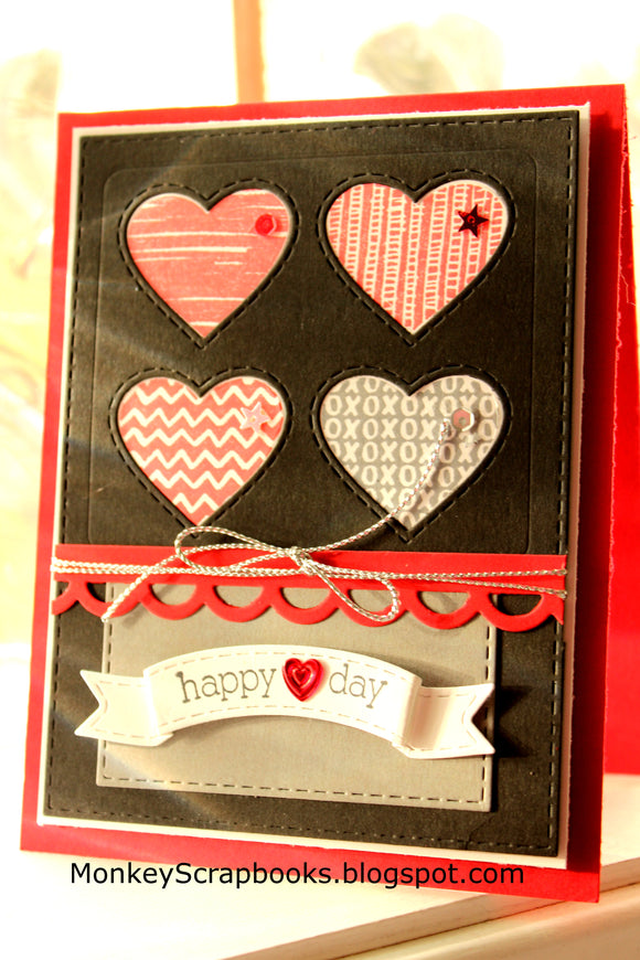 Taylored Expressions cling rubber stamps & thin metal dies - Heart of Hearts, Made in USA