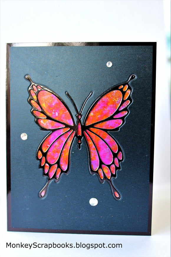 Impression Obsession Butterfly #2 thin metal die, Made in USA
