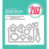Avery Elle clear acrylic stamps & thin metal dies - Beside the Sea, Made in USA