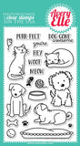 Avery Elle clear acrylic stamps & thin metal dies - Furry Friends , Made in USA