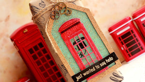 Poppy Stamps thin metal die - Cute Phone Booth, Made in USA