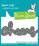 Lawn Fawn thin metal dies - Scripty Cheers , Made in USA
