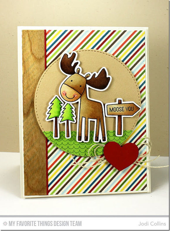 My Favorite Things clear acrylic stamps & metal dies- Warm & Fuzzy Friends, Made in USA