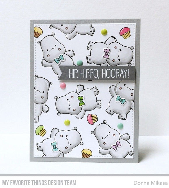 My Favorite Things clear acrylic stamps- Happy Hippos, Made in USA