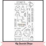 My Favorite Things clear acrylic stamps - The Whole Herd, Made in USA