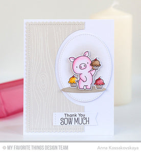 My Favorite Things clear acrylic stamps & metal dies - Hog Heaven, Made in USA