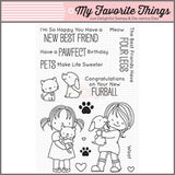 My Favorite Things clear acrylic stamps & metal dies - New Best Friend, Made in USA