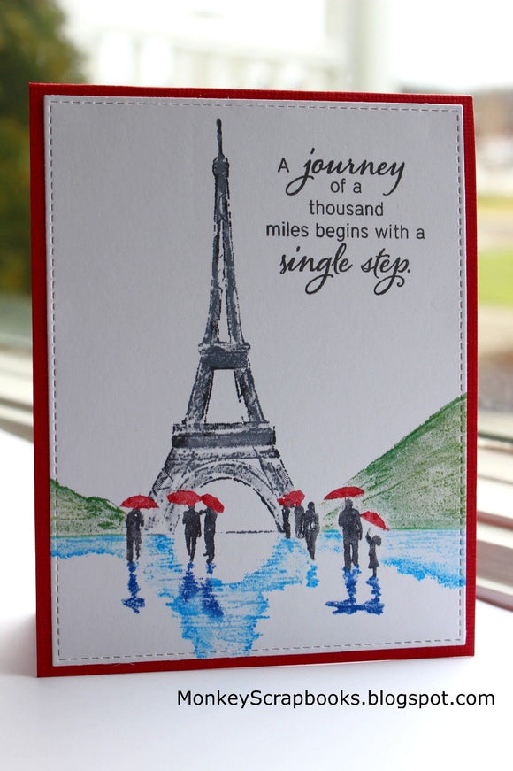 Penny Black cling mounted rubber stamp - In Paris