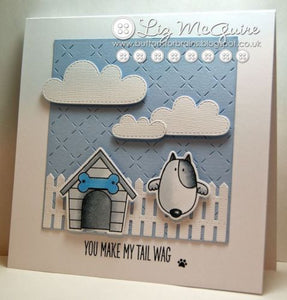 My Favorite Things clear acrylic stamps & metal dies- You Make My Tail Wag, Made in USA