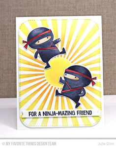 My Favorite Things clear acrylic stamps & metal dies- Ninja-mazing, Made in USA