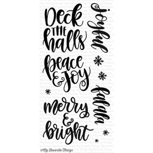 My Favorite Things clear acrylic stamps- Handwritten Holidays, Made in USA