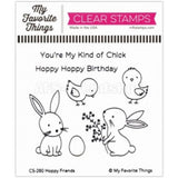 My Favorite Things clear acrylic stamps & metal dies - Hoppy Friends, made in USA