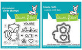 Lawn Fawn clear acrylic stamp set & metal dies - Stinkin' Cute, Made in USA