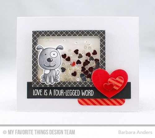 My Favorite Things clear acrylic stamps - Four Legged Friends, Made in USA