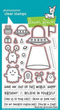 Lawn Fawn clear acrylic stamp set & metal dies - Beam Me Up, Made in USA