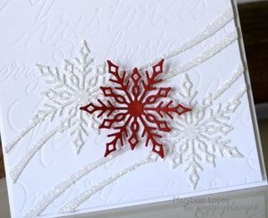 Poppy Stamps thin metal die - Snowflake Ribbon, Made in USA