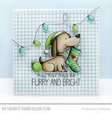 My Favorite Things clear acrylic stamps & metal dies- Happy Pawlidays, Made in USA