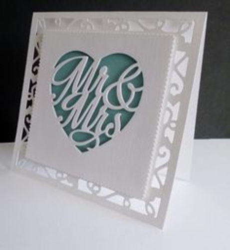 Tonic Studios thin metal die - Mr. & Mrs.