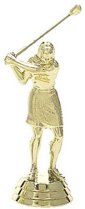 422 Golf Female Figurine