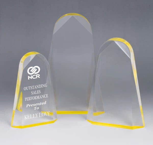 AA3784 Yellow Acrylic Award