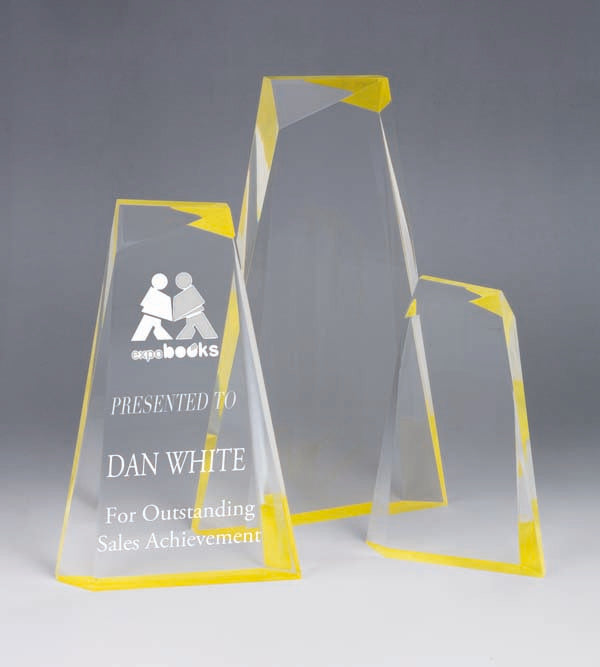 AA3821 Yellow Acrylic Award