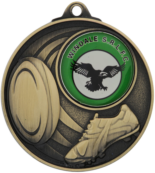 MC913 Rugby Insert Medal