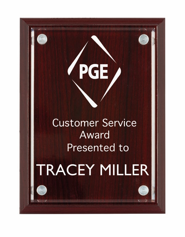 TPA200RW Timber/Acrylic Plaque