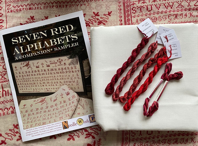 NeedleWork Press Seven Red Alphabets