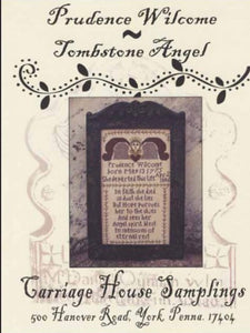 Carriage House Samplings Prudence Wilcome Tombstone Angel