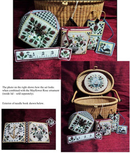 Heart's Ease Mayflower Rose Sewing Set
