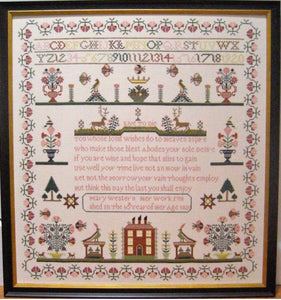 Samplers Revisited Mary Western 1820