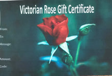 Load image into Gallery viewer, Victorian Rose Gift Certificate