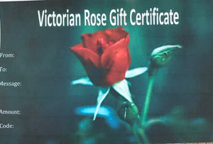 Victorian Rose Gift Certificate