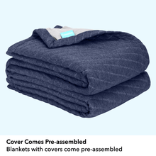 Load image into Gallery viewer, Weighted Blanket with Navy Duvet Cover (Limited Edition)