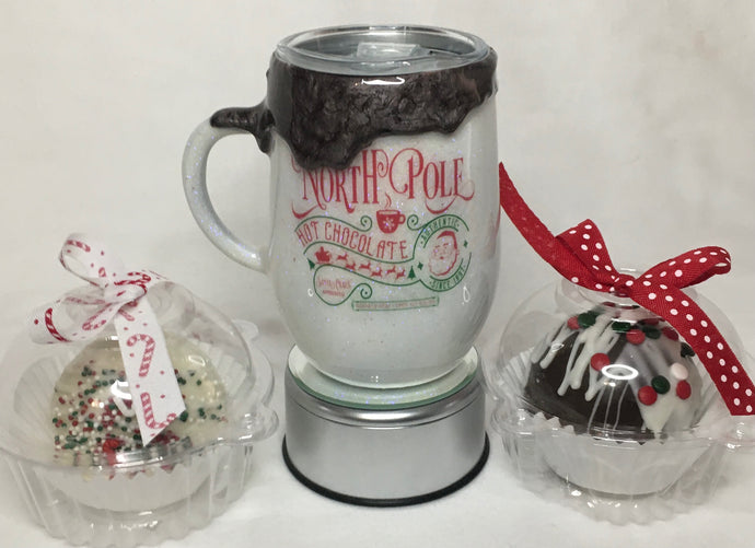 North Pole Dripping Hot Cocoa Mug
