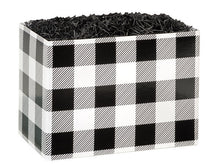 Load image into Gallery viewer, Black and White Buffalo Plaid box.