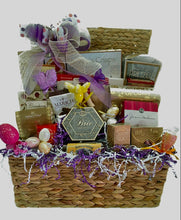 Load image into Gallery viewer, Easter Sweet and Savory Holiday Basket is a sensational pre-dinner basket for all to enjoy! It has a variety of wonderful treats for your hostess to share or just to send and wish someone a Very Happy Easter! We have customized this basket for someone special! We also added a dog bone for a special fur baby.
