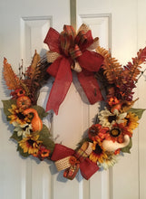 Load image into Gallery viewer, Fall wreath decor