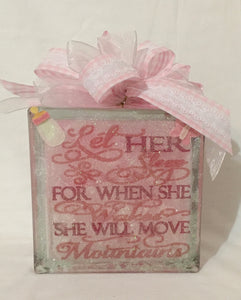 Let her sleep for when she awakes she will move mountains is the saying on other side. Have a question... Chat with us here on our website or call, text, email us and we will gladly assist you at 704.526.7407 or perfectselectioncreativegifts@gmail.com and we can assist you with your order.
