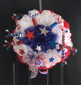 """Stars and Stripes Wreath"""