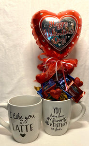 """You have been My favorite Adventure so far!"" is the perfect way to tell your favorite person just how much you Love them! This is an overfilled large mug that is perfect for coffee, hot cocoa, soup, or cereal. We have a variety of choices of candy to select from."