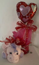 Load image into Gallery viewer, Have a question... Chat with us here on our website or call, text, email us and we will gladly assist you at 704.526.7407 or perfectselectioncreativegifts@gmail.com and we can assist you with your order. This has a unicorn, paint can keepsake filled with candy and balloon.