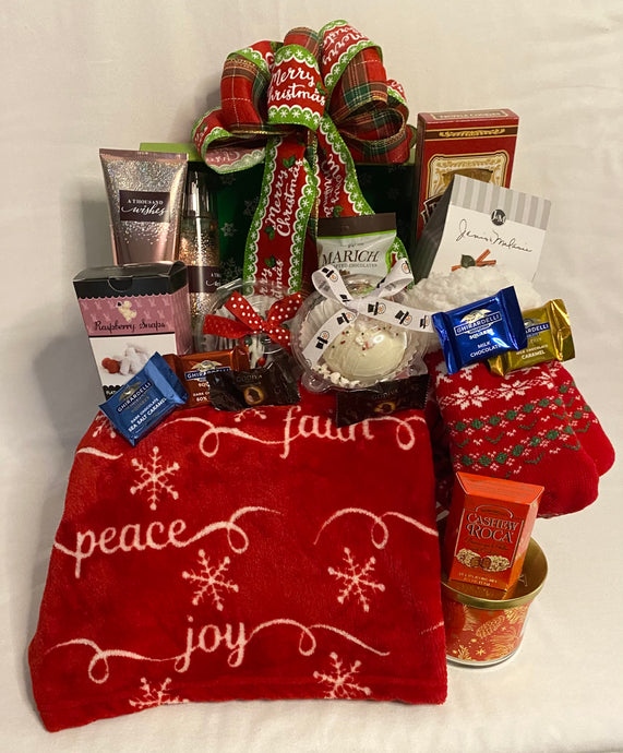 This Christmas Holiday Trunk is a gift loaded with special treats for that special someone! Your recipient will be over the top with this beautiful trunk filled with hand-selected treats. It measures 12-1/4