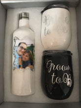 Load image into Gallery viewer, Bride & Groom To Be wine and cup set...