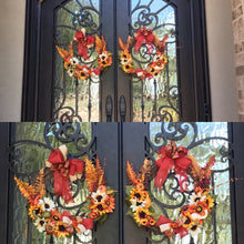 Load image into Gallery viewer, Double Autumn Wreaths! Fall decor
