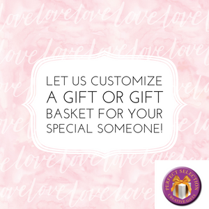 We can design, customize, and deliver gifts and gift baskets for all occasions. Not sure of what you like or need, reach out to us. Your recipient will be beyond pleased to receive these hand-selected gift items. We can customize gifts for you, by adding different things and making suggestions. We ship nationwide. Reach out to us on our online chat