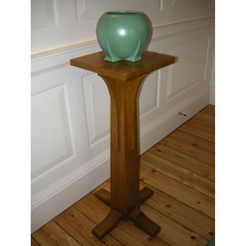 "<p>Beautiful Oak pedestal from Stickley's Mission Collection"" that is used as a pedestal to display objects or as a plant stand. </p><p><strong>SOLD</strong></p>"""