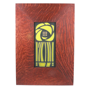"<p>Beautiful 4"" x 8"" handcrafted ceramic tile in a 13"" x 9"" handmade oak frame for hanging on the wall or displaying on a mantle.</p>"